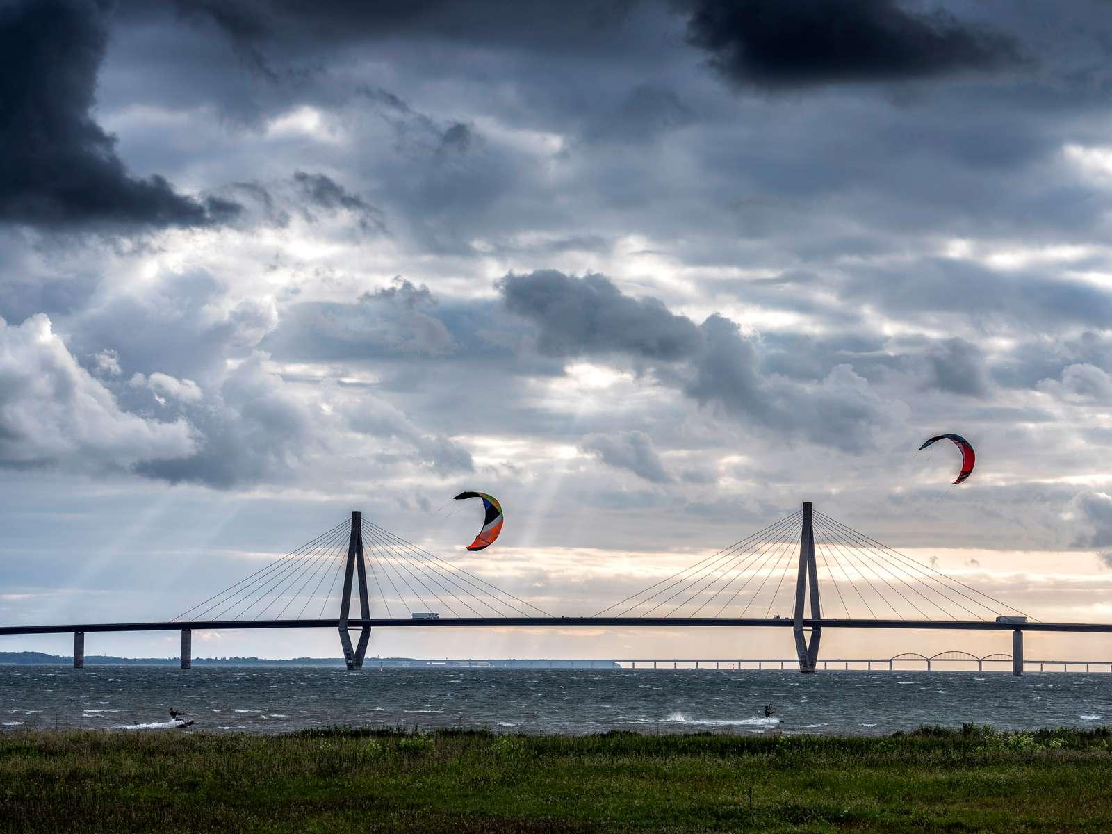 Farobrücke in Dänemark zwischen Falster und Seeland