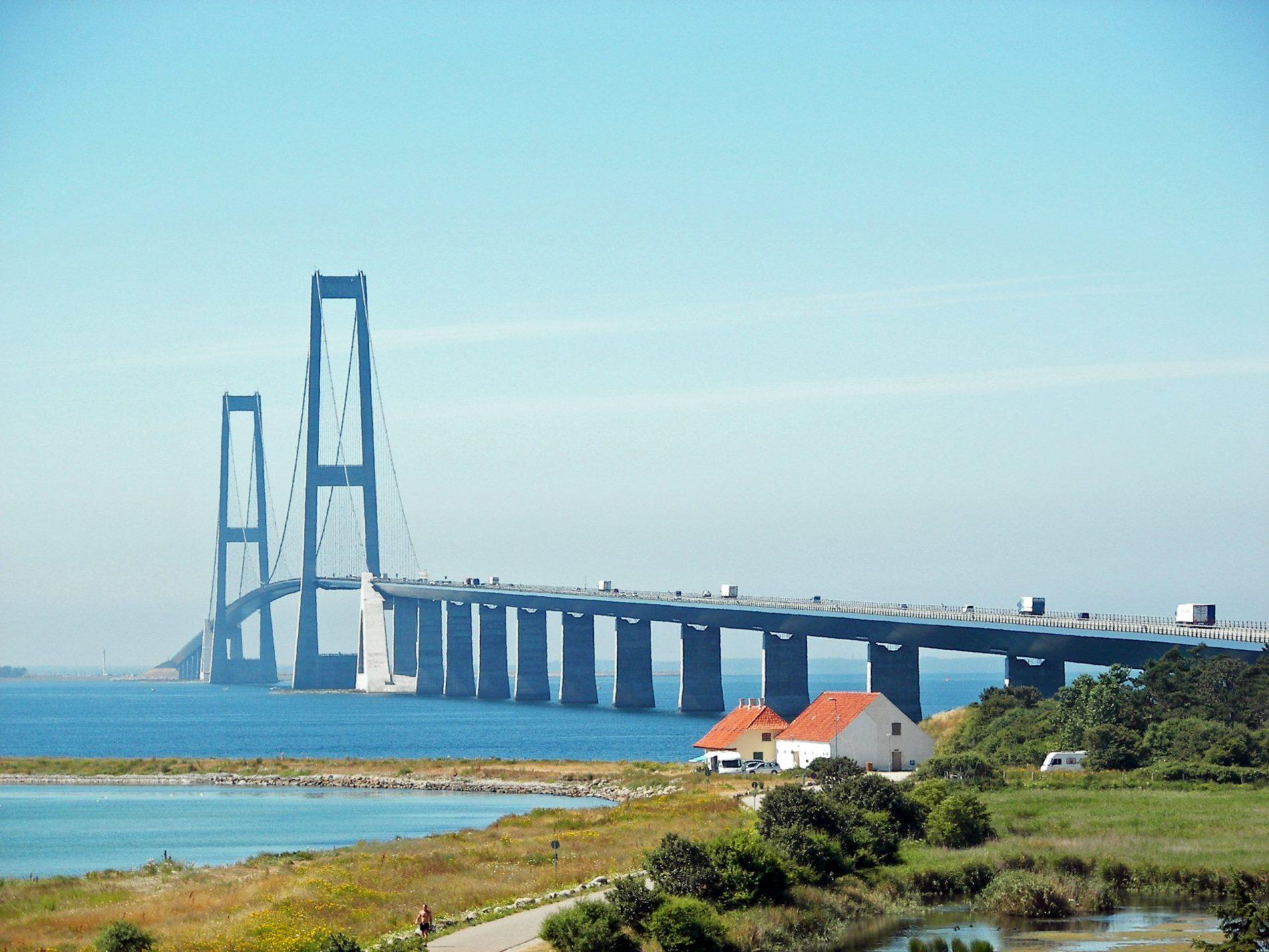 Großer Belt Brücke Storebæltsbroen in Seeland, Dänemark